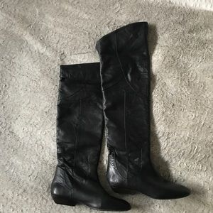 Women's Lucky Over the Knee Leather Boots